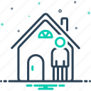 people, shelter, residences, at, buildings, homes, residential icon