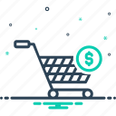 cart, commercial, online, purchase, shopping, supermarket, trolly