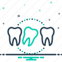dentistry, lax, loose, not secure, relaxed, tooth, tooth loose icon
