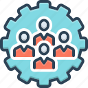 collaborate, conjunction, cooperation, group, process, teamwork, unity icon