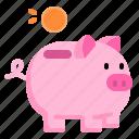 saving, money, pig, coin, investment, finance, business