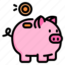 saving, money, pig, coin, investment, finance, business