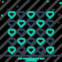 decorative, heart, much, overmuch, pattern, plenty icon