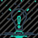creativity, denigration, lightbulb, concept, object, exclude, except