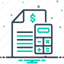 allocate, calculation, budget, accounts, finance, statement, calculate icon