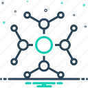 link, connect, hub, digital, global, connectivity icon