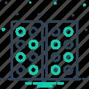 pattern, same, parallel, similarly, likewise icon