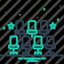 adjustment, organization, sitting arrangement, arrangement, dispensation, chair, planning icon