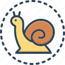 slowly, animal, move, slow, snail, scrimshaw, gastropod icon