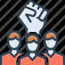 rebel, insurgent, revolution, solidarity, against, violence, aggressive