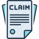 claimed, allege, insurance, bill, declare, paper, form