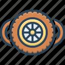 wheels, automobile, tire, car, rubber, vehicle, circle