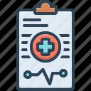 diagnosis, medical, report, cardiogram, healthcare, notepad, pulse