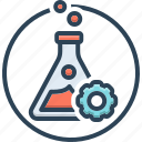 experiment, test, trial, use, chemical, beaker, flask