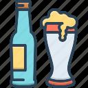 beer, lager, alcohol, bar, beverage, mug, glass