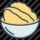 uni, bowl, food, dish, japanese food