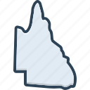 qld, queensland, country, state, area, border, continent