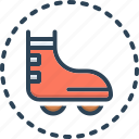 derby, boot, roller, skate, footwear, basketball, skating