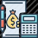finance, notepad, calculator, accounting, money, economic