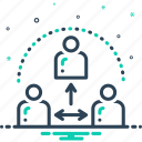 communication, group, people, spirit, team, thirdparty, together icon