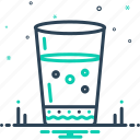 aqua, drink, glass, riverain, water, water glass icon