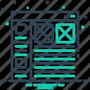 futuristic, hud, information, interface, ui, user, website icon