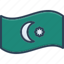 azerbaijan, baku, border, flag, contour, country, international