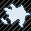 azerbaijan, baku, europe, border, map, contour, country
