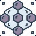 abstract, adjacent, graphic, hive, pattern, repeating icon