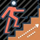 advancing, augmentation, growth, increase, outdo, outrun, promotion icon