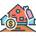 affordability, affordable, cash, expensive, mortgage icon