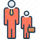accessory, ancillary, assistance, auxiliary, helper, junior, subsidiary icon