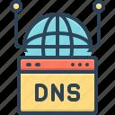 dns, server, service, cloud, database, hosting, filled