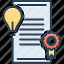 patents, bulb, creativity, idea, inspiration, document, qualification