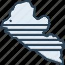 liberia, country, map, national, atlantic, africa, border