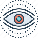 see, eyesight, eyeball, glimmers, look, vision, view