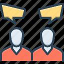 conversations, dialog, report, talk, communication, discourse, chitchat