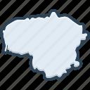 lithuania, belarus, europe, landmark, contour, country, cartography