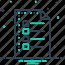 catalog, document, list, sheet icon
