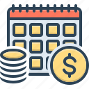 annuities, annuity, currency, exchange, financial, revenue, yearly icon
