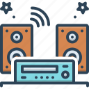 audios, listen, music, music system, radio, sound, system icon