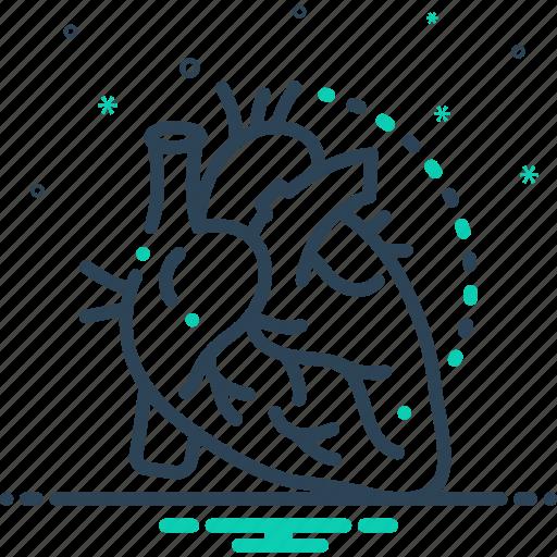 arteries, artery, cardiology, cholesterol, heart, pump, veins icon