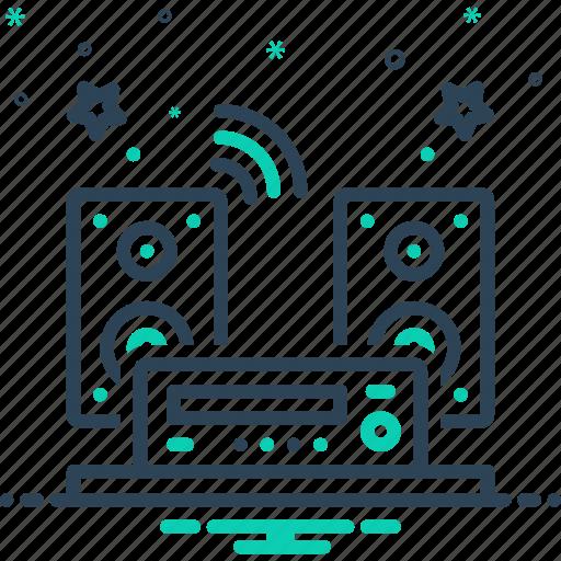 audios, listen, music, radio, sound, system icon