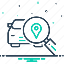autodetect, detective, gps, investigation, magnifying, navigation, search icon