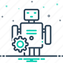 automatically, automation, machine, process, technology icon