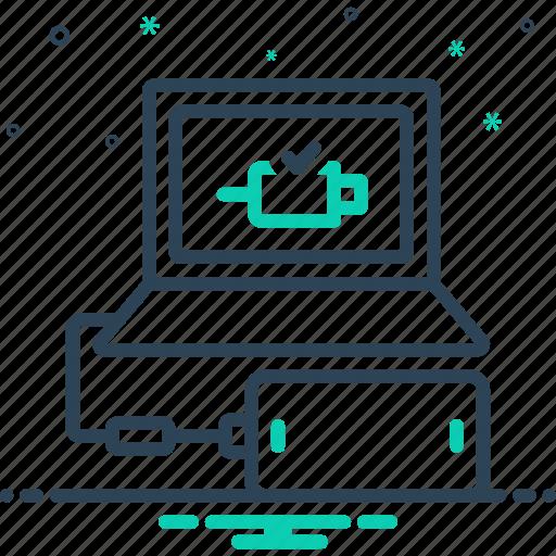 add, attach, concatenate, connect, link icon