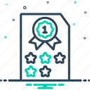category, class, grade, quality, rank, result, satisfaction icon