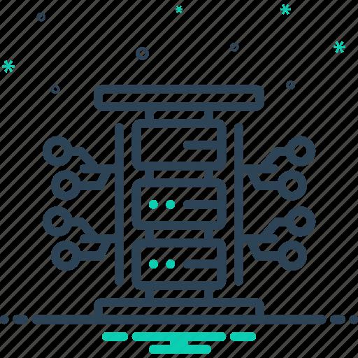 data, server, stock, storage, store icon