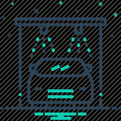 auto wash, autolaundry, automobile, clean, service, transportation, vehicle icon