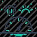 baric, barometric, measurement, pressure, scale, technology icon